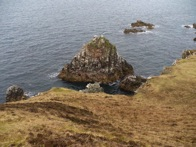 Most of The Oa's craggy coastline is firm under foot. This is next to Soldier's Rock. See guillemots, shags and fulmars.